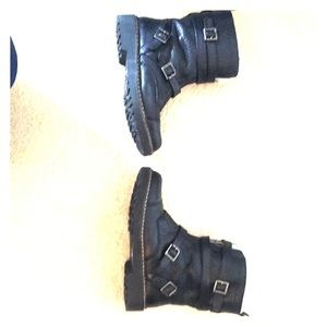 """Arturo Chang """"Peli"""" Shearling Lined Leather Boot"""
